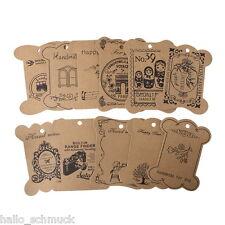 HS:11Blätter Natur Papier Garnspule Wachsschnur Karte Für Schnurwickel 10.5x8cm