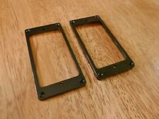 HUMBUCKER PICKUP RING SET FLAT BOTTOM SLANTED IN BLACK