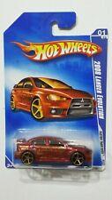 Hot Wheels 2009 RED     2008 Lancer Evolution Faster Than Ever