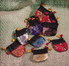 Adventskalender Stoffsäckchen 24 Stück 7 x 7 cm Farben gemischt selbst befüllen