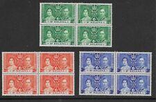 St Helena 1937 Coronation unmounted mint MNH set as blocks of 4 Stamps
