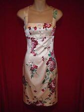 Dolce & Gabbana stretch silk pink floral print dress 42 4 6 8