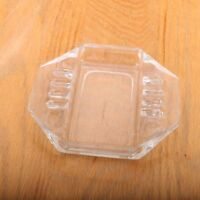 Vintage 8 Sided Clear Glass Ashtray