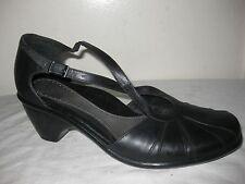 Dansko Black Leather Comfort Sandals Women  Shoes Sz 41 / 10.5 Made In PORTUGAL.