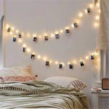 Warm White LED String Light 50LED 30 photo clip Fairy Lights Decoration party