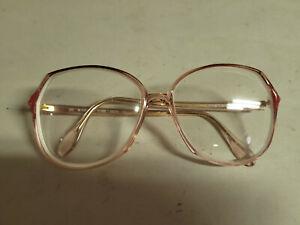 Vintage Prescription Glasses Silhouette Pink Brown White