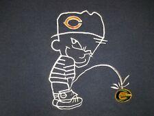Chicago Bears vs Green Bay Packers Sweatshirt Men Size M ~ Calvin Leaks Whiz Pee
