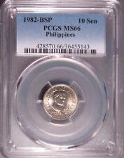 1982 BSP Philippines Ten Sentimo (10 Sen), PCGS MS 66