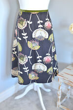 Stunning LAURA ASHLEY Bold dandelion bloom/botanical a-line skirt 12 linen