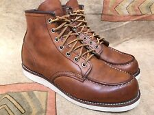 Red Wing Heritage 875 Classic Moc Toe Boots Mens Oro Legacy Sz US 8.5 D | UK 7.5