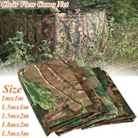 Clear View Camo Army Net Hide Netting Pigeon Cover Hunting Shooting Woodland New