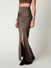FREE PEOPLE Brown Stripy Waist Sculptor Maxi Skirt F378S706, Size Small  NWT