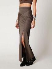 FREE PEOPLE Brown Stripy Waist Sculptor Maxi Skirt F378S706, Size Medium NWT