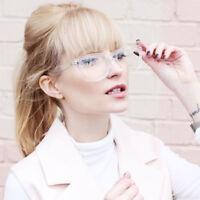 Fashion Women Square Transparent Glasses Retro Men's Computer Eyeglasses Frame