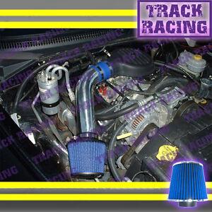 97 98 99-03 DODGE DAKOTA DURANGO 3.9L V6 5.2L 5.9L V8 COLD AIR INTAKE Blue 2F