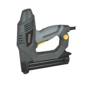 Titan 25mm Electric Nailer Stapler Nail Gun Wood Upholstery Heavy Duty UK Pro