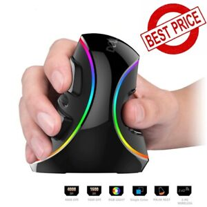 Ergonomics Vertical Gaming Mouse Right Hand Mice 6btns RGB Wired/Wireless For PC