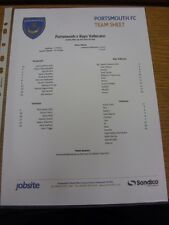 28/07/2013 Colour Teamsheet: Portsmouth v Rayo Vallecano [Friendly] . Thanks for