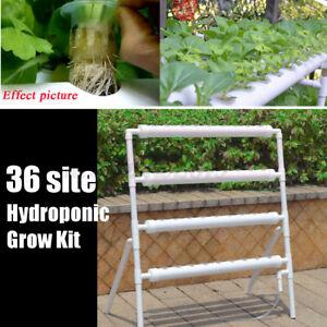 36 Löcher Hydrokultur Pflanzen Rohr Hydroponik Wachsen Garten Bewässerungssystem