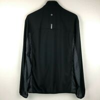 Lululemon Mens Surge Jacket Black Size L Full Zip Windbreaker Running Reflective