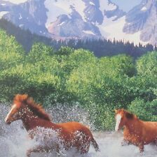 jigsaw puzzle 500 pc Running Horses WA Washington mountains MB Croxley