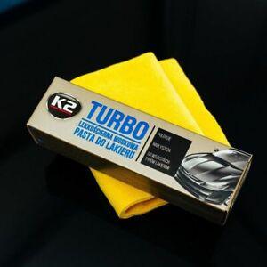 K2 TURBO TEMPO Wax Polish Paste Compound Scratch Remover Restores Car Paint 120g