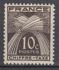 FRANCE TIMBRE TAXE NEUF N° 67 *  TYPE GERBES