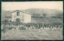 Roma Acqua Traversa Militari Bersaglieri cartolina QT5528
