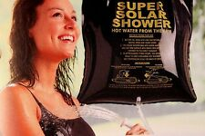 CAMP SHOWER SOLAR HEATED, 5 GALLON, COMPACT EASY TO USE, NON TOXIC PVC COGHLANS!
