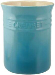 LE CREUSET Teal Utensil Jar 15x13cm New