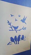 Schablonen 375 Vögel Vintage Stanzschablone Möbel Wandtattoos Stencil Bild Mylar