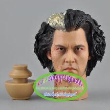 Hot 1/6 scale Johnny Depp Figure Head Sculpt Toy Sweeney Todd  headplay In box