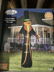 Gemmy Halloween Airblown Inflatable 12ft Pumpkin Scrooge Lighted