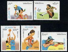 LAOS N°1207/1211** Jeux Olympiques cyclisme, basket, foot, tir 1996 Olympics MNH