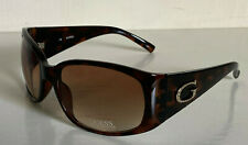 NEW! GUESS TORTOISE BROWN GOLD LOGO CRYSTAL SUNGLASSES SHADES $55 GUF233 SALE
