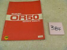Suzuki 50 OR OR50 Rebel Mini Chopper Used OEM Service Shop Manual #VP-MAN384