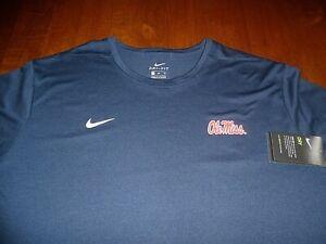 Ole Miss Nike 3XL T-shirt SideLine DriFit XXXL Navy Blue & Red