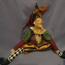 Katherine's collection Victorian Jester doll by Wayne Kleski USED Rare!