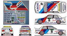 "#155 ""NEW"" BMW M3 Wellington 1990 Soper Winkelhock Decal 1/24 Beemax - AOSHIMA"