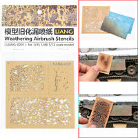 Spray Paper Weathering Airbrush Stencils Tools for 1/35 1/48 1/72 Scale Model
