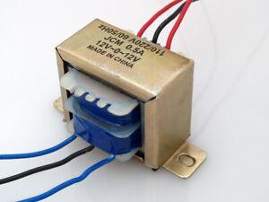 110/220VAC to 24VAC 500mA 0.5A Center Tap Power Transformer 12V-0-12V 24V 12Vx2