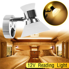 LED Reading Light RV Camper Trailer Boat Wall Mount Bedside Spot Lamp Warm White
