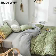 2020 Green Flower Bedding Set High Quality Reactive Printing Sheet 3/4 Piece Top