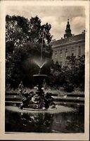 Kremsier Kroměříž Tschechien Česká Ostmähren AK 1942 Springbrunnen Schlossgarten