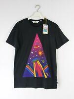 WRANGLER x PETER MAX T-SHIRT TEES GREY/BLACK Top POP ART S/M/L/XL
