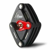 Bike Lock Heavy Duty Lock Folding Lock with Rubber Mounting Bracket Ebike Lock