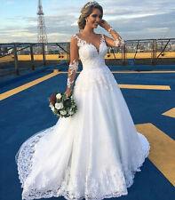 NEU Weiß/Elfenbein Hochzeitskleid Ballkleider Brautjungfer Brauch Gr 34+++