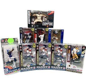 McFarlane NFL MLB Figure Lot Of 9 Superstars Rare Vintage Odell Gronk Bumgarner