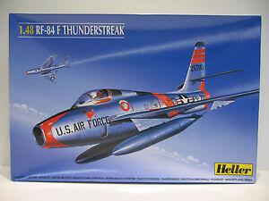 Republic RF-84 F Thunderstreak, US Airforce.Jet,,  Heller Bausatz 1:48 NEU