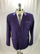 Jolie Joli Bespoke Men's Purple Wool Blazer 42R NWT